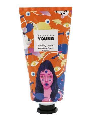 SelfieLab Young Матирующий Крем для лица с маслом миндаля, экстрактами ромашки 50мл