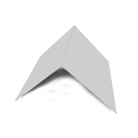Планка конька плоского 150х150х2000 мм RAL 7004