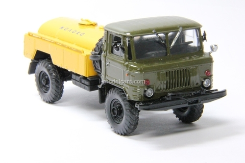GAZ-66 tanker Milk khaki-yellow Agat Mossar Tantal 1:43