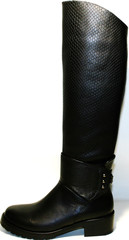 Сапоги женские зимние кожаные черные