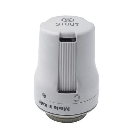 Головка термостатическая STOUT - M30x1.5 (регулировка 2-29°C, цвет белый)