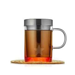Кружка заварник для чая 400 мл, с металлической колбой, стеклянная