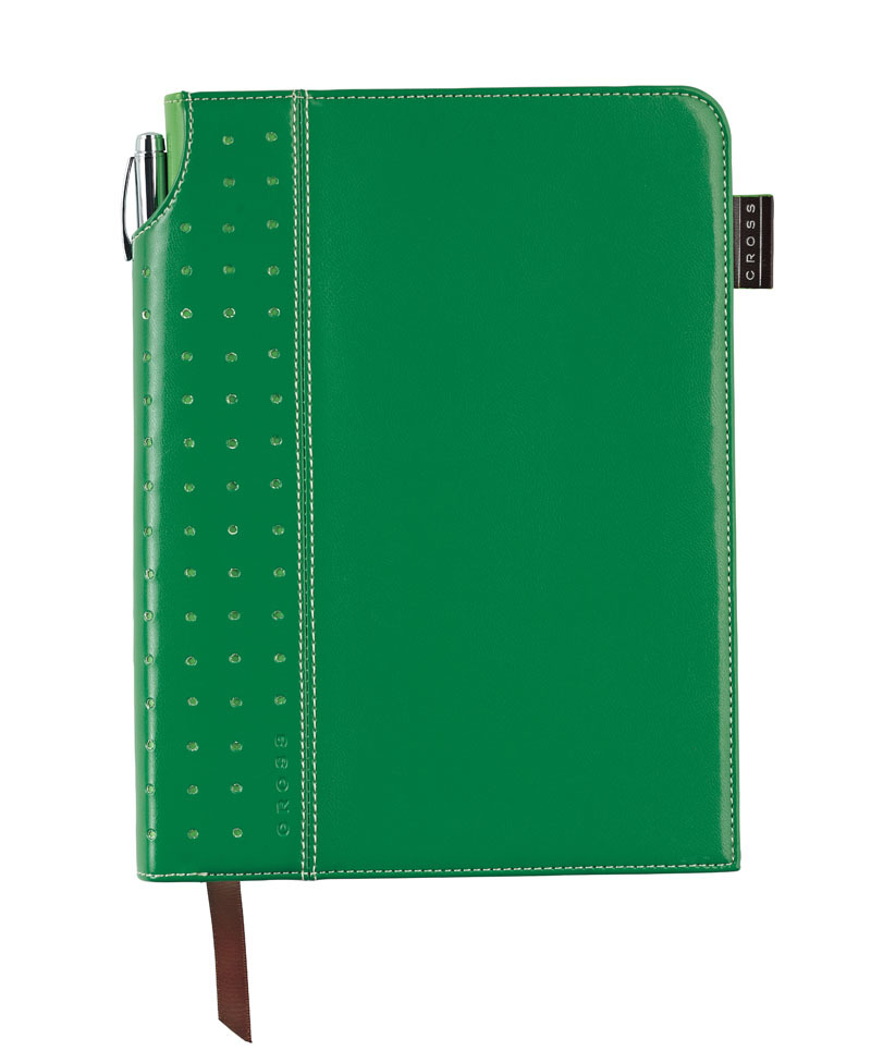 Записная книжка Cross Journal Signature A5, 250 страниц в линейку, ручка 3/4 в комплекте. Цвет - зел
