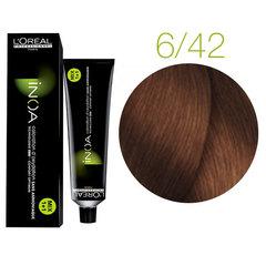 L'Oreal Professionnel INOA 6.42 (Темный блондин медный перламутровый) - Краска для волос