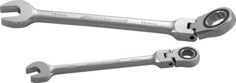 W66115 Ключ гаечный комбинированный трещоточный карданный, 15 мм