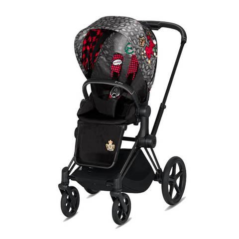Прогулочная коляска Cybex Priam III FE Rebellious шасси Matt Black