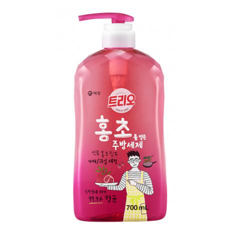 Средство для мытья посуды Гранат Aekyung Trio Hongcho 700 мл с помпой-дозатором