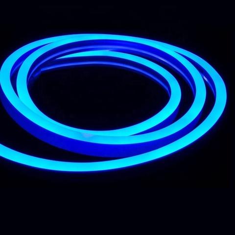 Гибкий неон Синий, SMD2835, 8х16 мм, 12 Вольт, Силикон