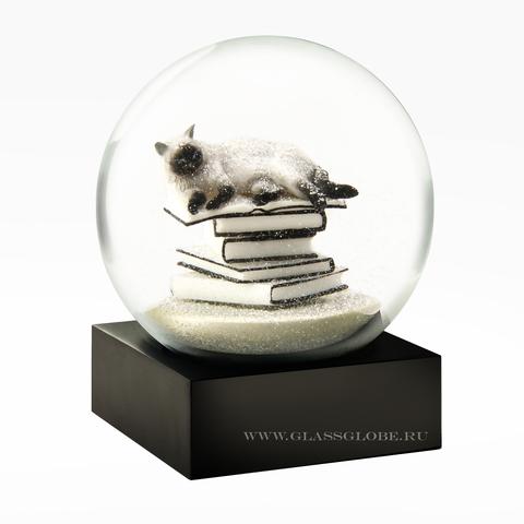 Снежный шар Белый кот