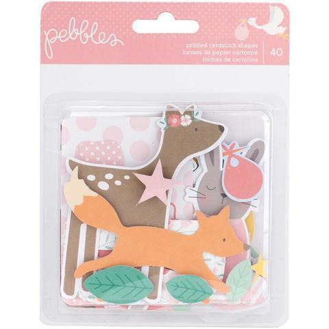 Высечки -коллекция Lullaby Ephemera Cardstock - Pebbles -40шт.