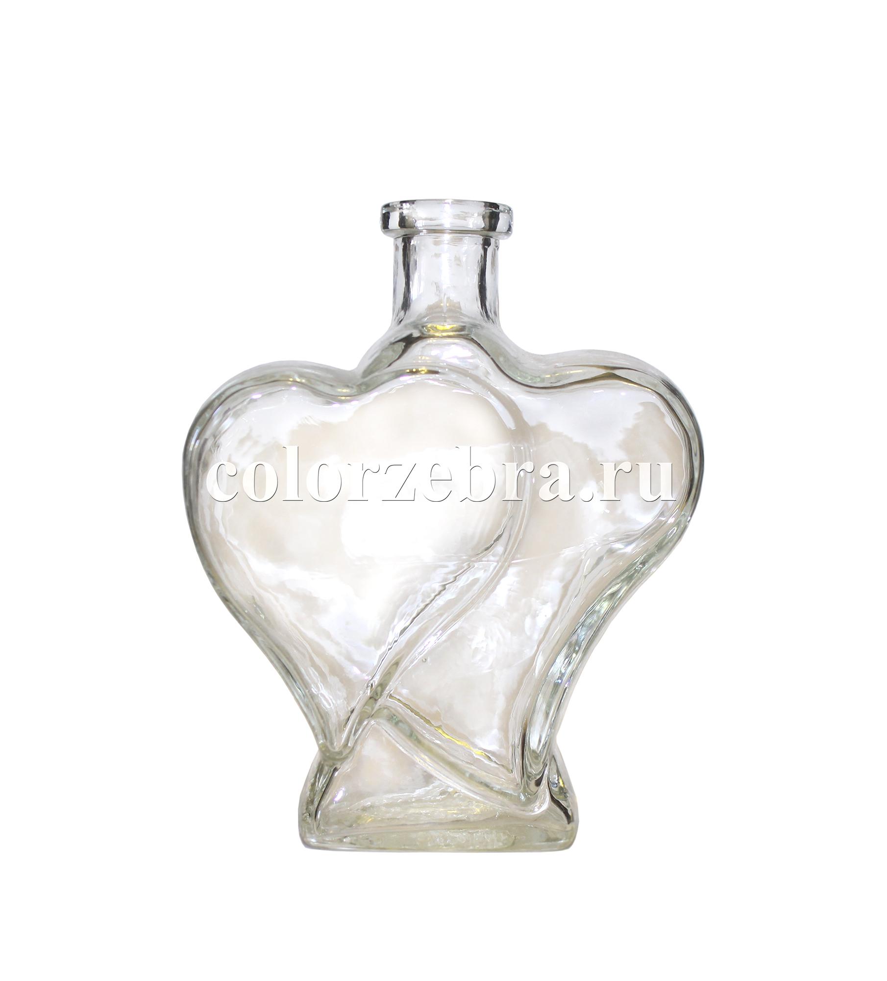 Сосуд, быутылка для песочной церемонии в форме сердца