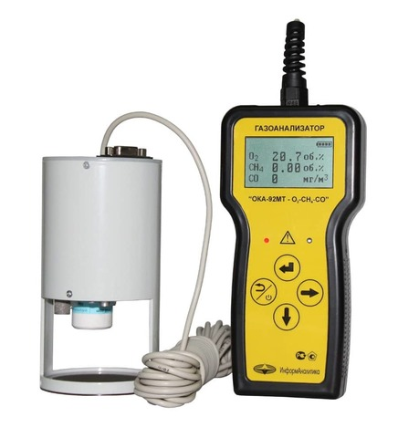 Газоанализатор переносной ОКА-92M-O2-H2