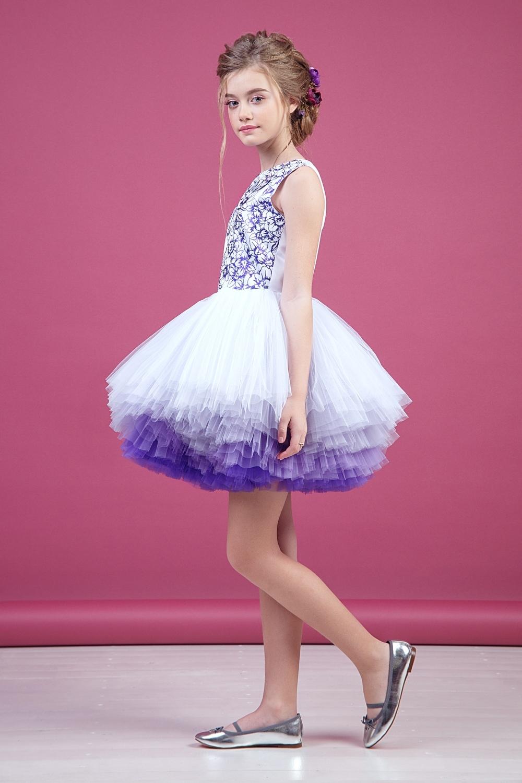 Платье белое для девочки 38-9008-4