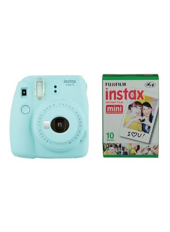 Fotoaparat - Fujifilm instax Mini 9 Camera with 10 Shots - Ice Blue