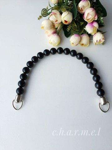 Handle for bag metal+plastic, color Black