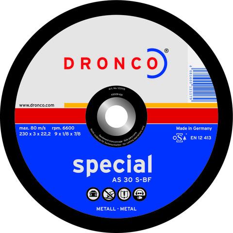 Абразивный отрезной диск Dronco AS 30 S 230x3