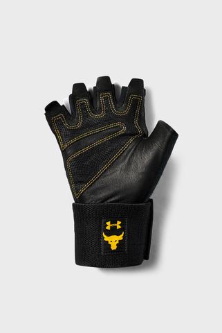 Мужские черные перчатки UA Project Rock Training Glove-BLK Under Armour