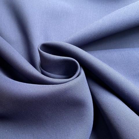 ткань шерсть с шелком синего цвета