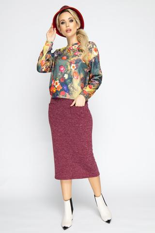 <p><span>Ультра модный костюм из мягкого трикотажа! Романтика, стиль, уверенность в себе? Тогда этот костюм специально для Вас! Стильный блузон со спущенным плечом, рукав длинный, юбка на резинке с функциональными карманами. Трикотаж очень приятен к телу. (Длины блузон/юбка: 46-48=50/78 см; 50-52=51/79см)&nbsp;</span></p>