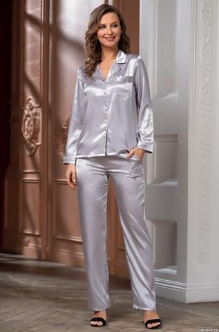 Комплект брючный  Mia-Amore Джулия JULIA 8736 серебро