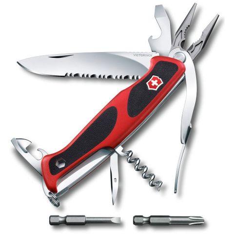 Нож перочинный Victorinox RangerGrip 174 Handyman (0.9728.WC) 130мм 17функций красный/черный