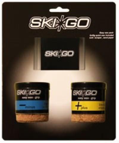 Картинка мазь лыжная Skigo скребок Easy Grip pack - Two easywax & one scraper