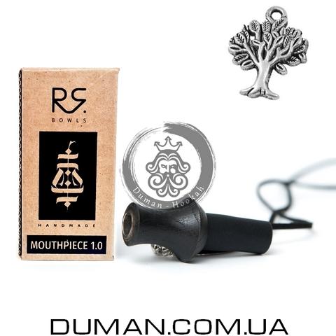 Персональный мундштук RS Bowls Black для кальяна |Дерево