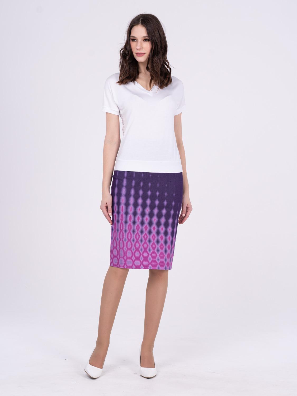 Юбка Б101-537 - Зауженная юбка-карандаш из джинсового хлопка. Сзади разрез. Юбка идеально сидит на любой фигуре придавая стройность и элегантность.
