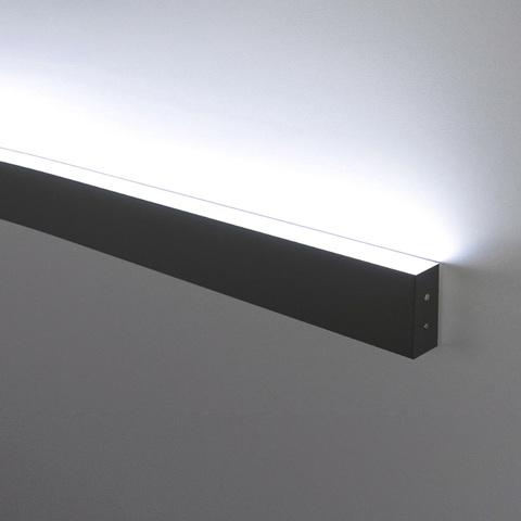 Линейный светодиодный накладной односторонний светильник 53см 10Вт 4200К черная шагрень 101-100-30-53