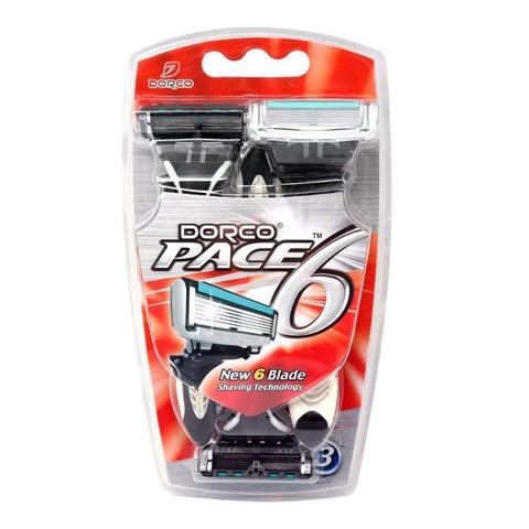 Dorco Pace 6 Одноразовые станки для бритья с 6 лезвиями 3шт.