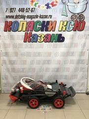 Санки коляски GALAXY CITY 1-1 «красный» с надувными колёсами