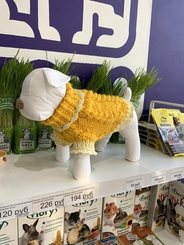 ТОТО свитер для мелких пород ручной работы (натуральная шерсть)