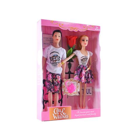 Кукла семья + роза