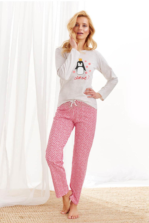 Хлопковая пижама Maja с забавным принтом