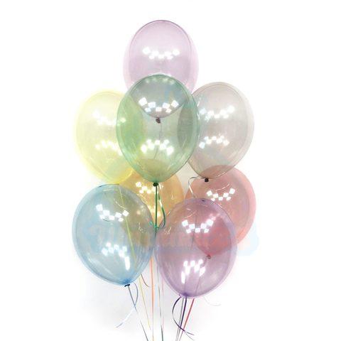 Прозрачные воздушные шары Кристалл нежных оттенков