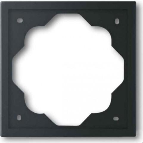 Рамка на 1 пост. Цвет Чёрный бархат. ABB(АББ). Impuls(Импульс). 1754-0-4424