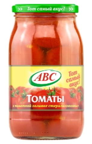 Белорусские консервы томаты в томатной заливке 880г. АВС - купить с доставкой на дом по Москве и всей России