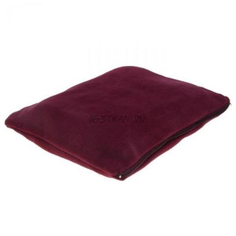 Подушка спутник бордовая