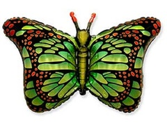 F Бабочка, крылья зеленые, 22