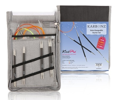 KnitPro Набор съемных спиц Karbonz Starter 41621