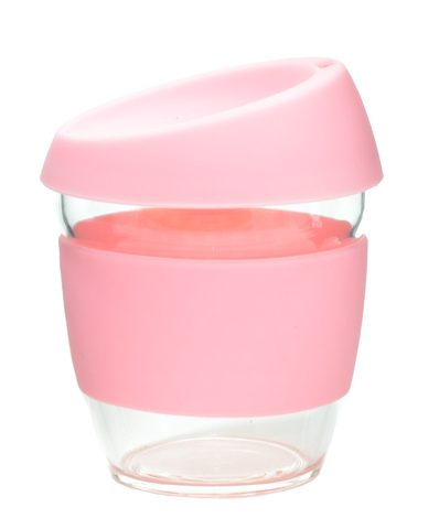 Кружка Coffee Cup из боросиликатного стекла 226 мл. розовый