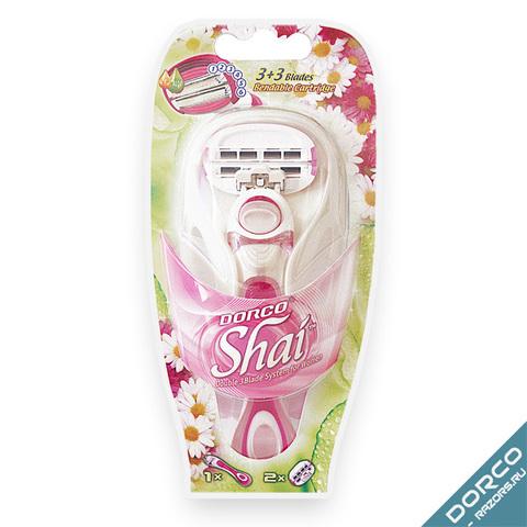 Dorco Shai Sweetie Станок + 2 сменные кассеты с 3+3 лезвиями