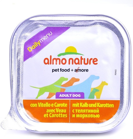 Консервы (ламистер) Almo Nature Daily Menu - Veal and Carrots