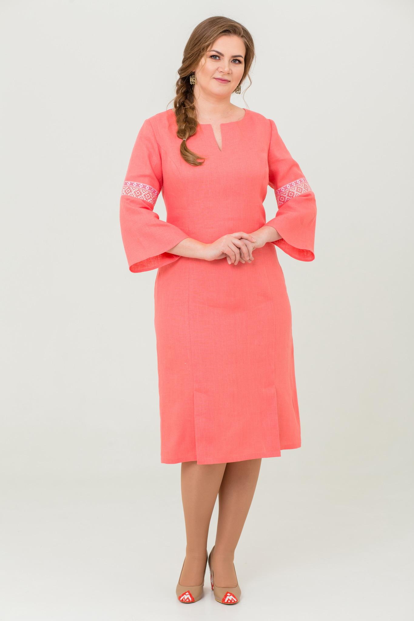 Платье льняное Царевна-лебедь для офиса