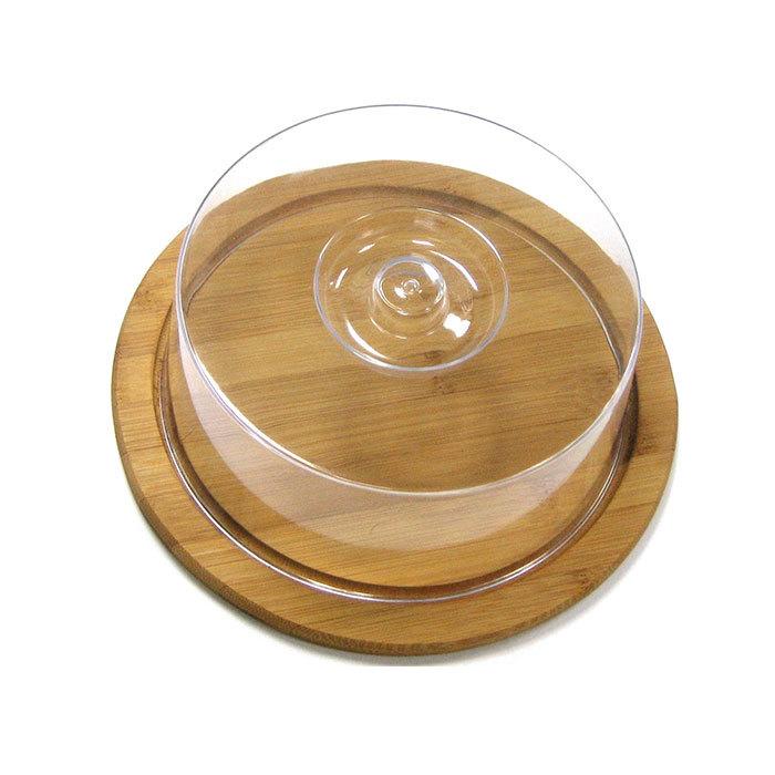 Доска разделочная круглая с пластиковой крышкой 23 х 9 см, артикул 9031, производитель - Hans&Gretchen
