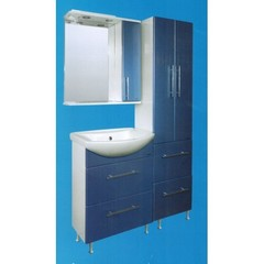 Мебель для ванной комнаты Грация серо-голубой
