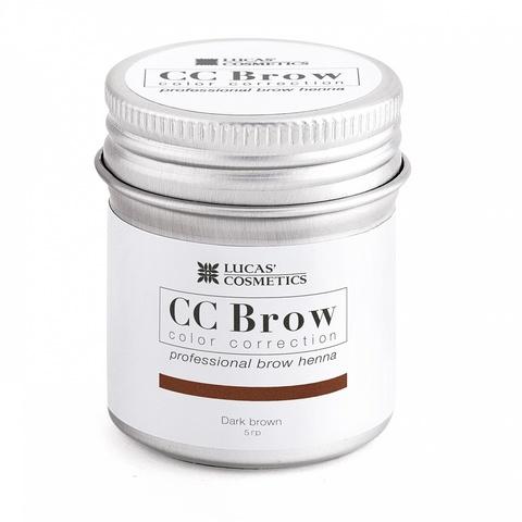 Хна для бровей CC Brow в баночке, 5 гр. Цвет Темно-коричневый