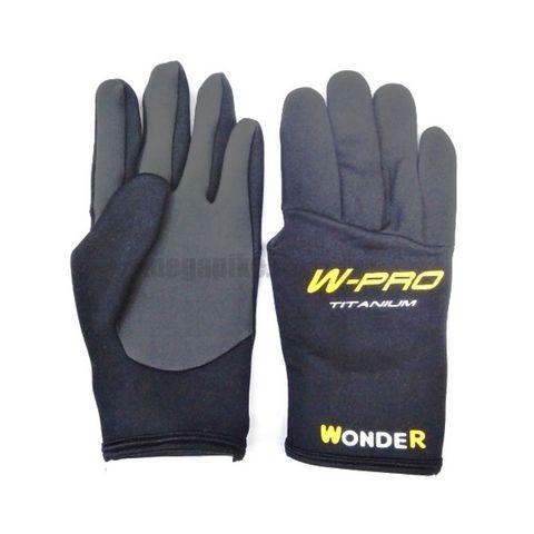 Перчатки Wonder черные с пальцами WG-FGL / размер М