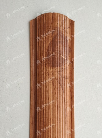 Евроштакетник металлический 110 мм Золотое дерево 3D фигурный двусторонний 0.5 мм