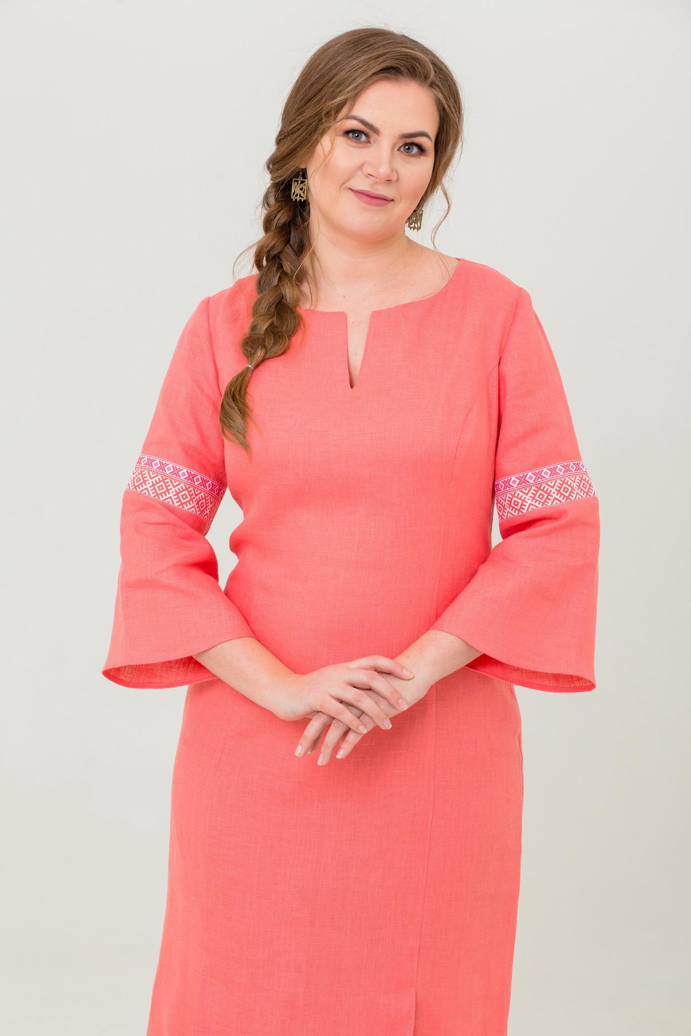 Платье льняное Царевна-лебедь русское народное